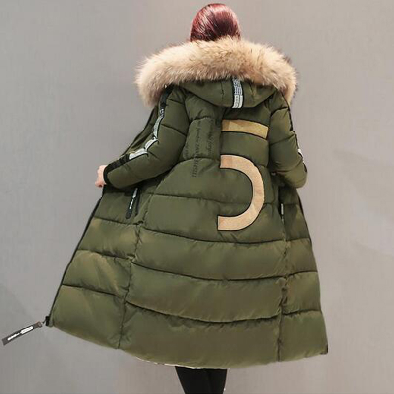 Plus Size 6XL Loose Parkas Women Winter Jacket And Coat High Quality Fur Collar Thick Cotton Long Padded Hooded Jacket PW1033 бордюр atlas concorde 3d wall spigolo white matt 1x20