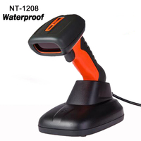 New waterproof 1D laser Wired USB Handheld Scanner high speed Barcode Reader high quality laser barcode scanner NT 1208