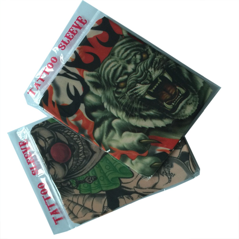 1Pcs Mens UV Hip Hop Snake Skull Print Knit Crochet Seam Tattoo Arm Warmers Sleeves for Women And Man Fashion Sun Protector