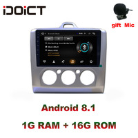 IDOICT Android 8.1 Car DVD Player GPS Navigation Multimedia For Ford Focus Radio 2005 2011 car stereo bluetooth wifi