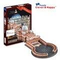 2014 новый умный и счастливую землю 3d модель головоломка Ул. святого Петра большой взрослых головоломка diy бумажная модель игры для детей бумаги