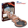 2014 new clever&happy land  3d puzzle model St.Peter's Basilica large adult puzzle diy paper model games for children paper