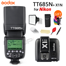 цена на Godox TT685 TT685N 2.4G HSS i-TTL GN60 Wireless Flash + X1T-N TTL Trigger for Nikon D800 D700 D7100 D5200 D5100 D70S D810 D90