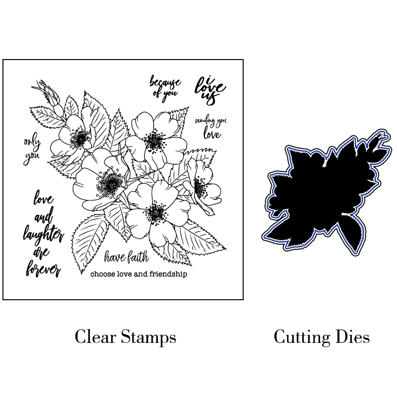 Choose love and friendship Transparent Stamp Seal for DIY Scrapbooking Photo Album Decorative Card Making Clear Stamps Supplies in Stamps from Home Garden