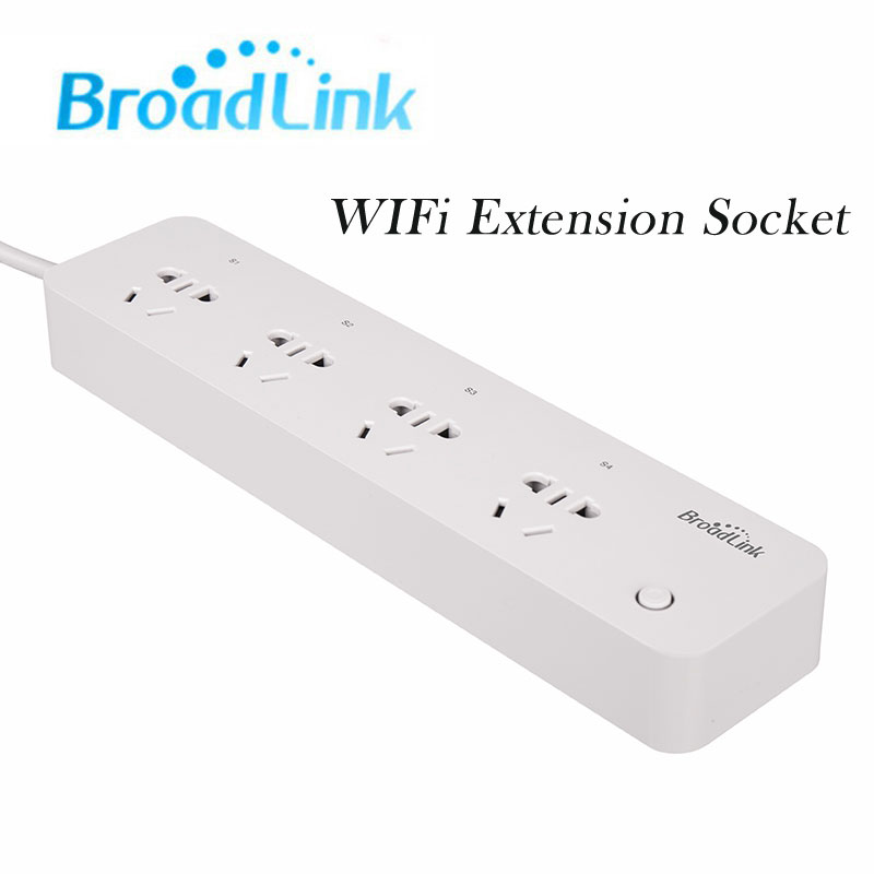 Original Broadlink MP1,Smart Power Plug and play WiFi Power strip remote control available 4-Outlet Power Socket for Smart Home