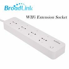 Broadlink MP1 WiFi Power Strip Socket, 4 Outlet Extension Socket Plug With EU/US/UK/AU Adapter App Remote Control For Smart Home
