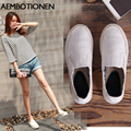 2016 Summer New Women Loafers Thick Soles Womens Shoes Fashion Korea Flat Shoes Women Black Canvas Shoes Braided Fisherman Shoes
