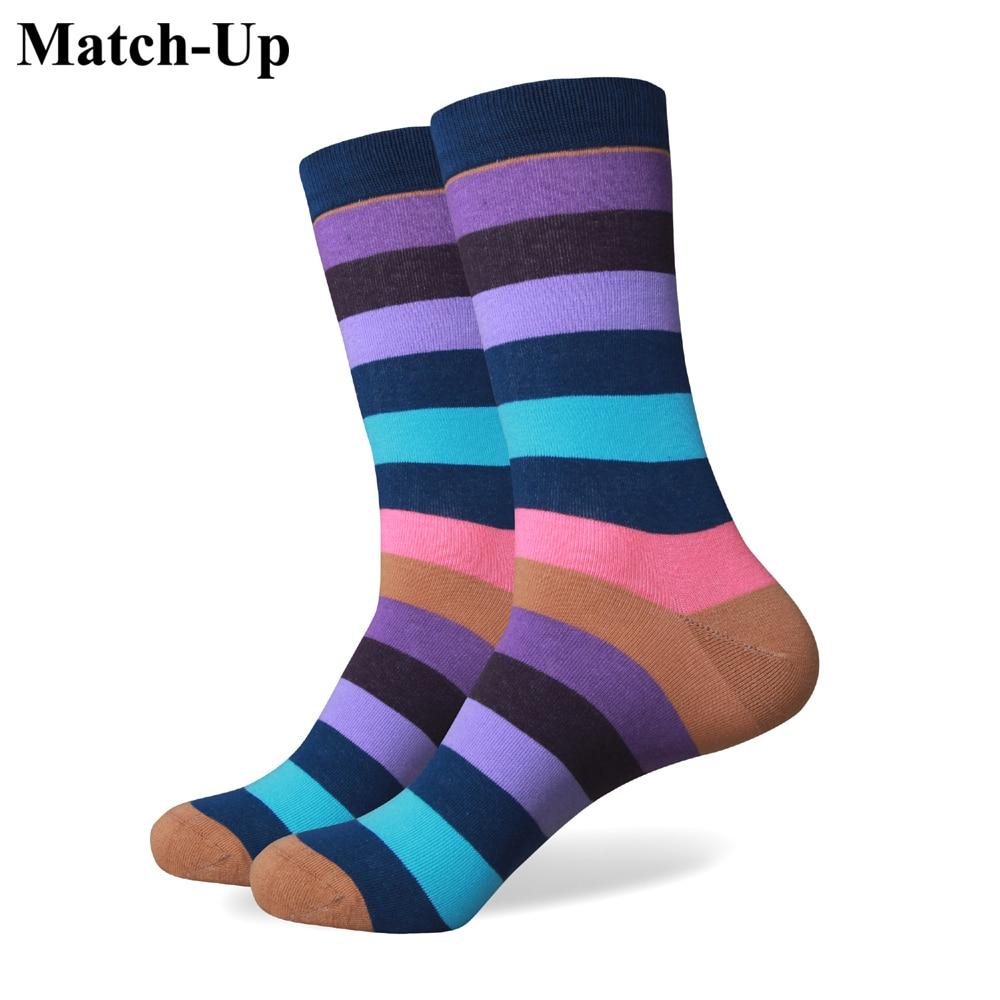 Match-Up συλλογή όλων των βαμβακερών ανδρών πολύχρωμες κάλτσες μάρκας ανδρικές κάλτσες, ανδρικές κάλτσες, βαμβακερή κάλτσα Δωρεάν αποστολή