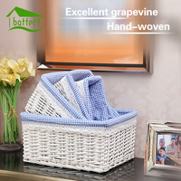 2017 Rattan Storage Basket Weaving Picnic Fruit Box Woven Wicker Storage Cosmetics Handiwo Basket Storage Box