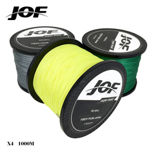 2017 new JOF 1000M Multifilament Fishing Line 100 PE Braided 4 threads fly fishing line or