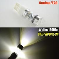 1pc 75W T20 7440 7443 W21W W21 5W 15smd Led Canbus No Error Free DC12 24V
