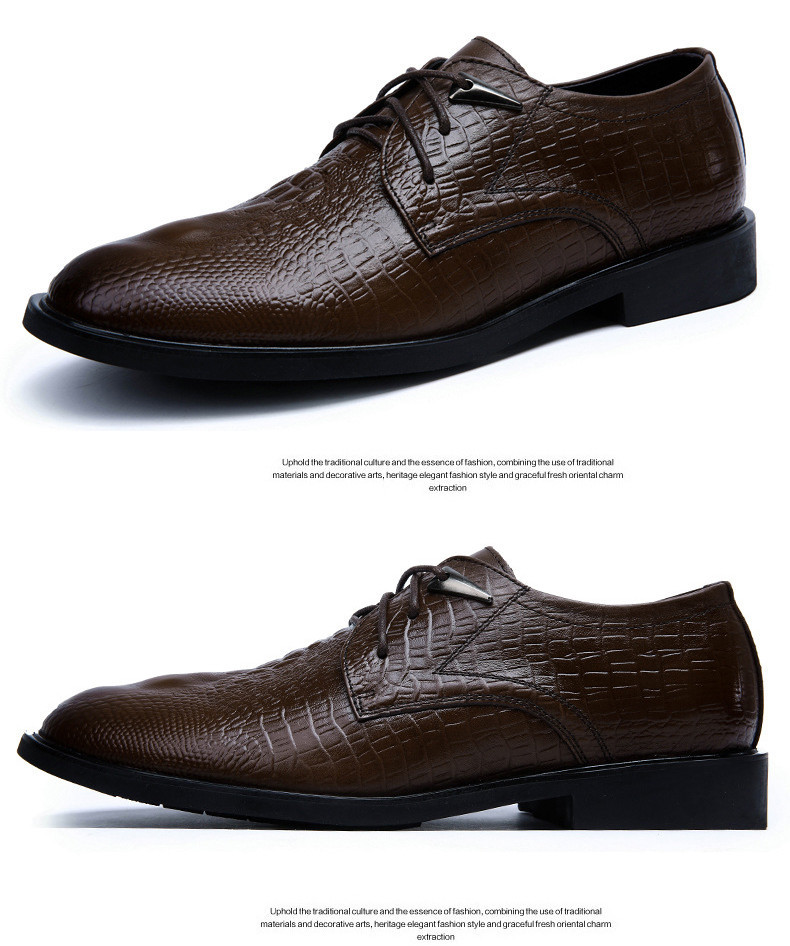 Shoes Mens Wedding Dress Shoes Casual Crocodile Genuine Leather Oxfords Shoes Bussiness Brogues Shoes Moccasins For Mens Party Shoes Products Are Sold Without Limitations