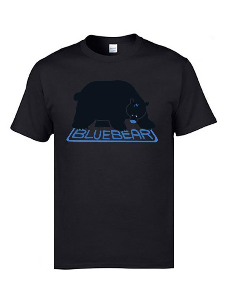 Blue Bear White Fashion 3D T Shirt Print Plain Designers Bear Tshirt Men Hip Hop Rock