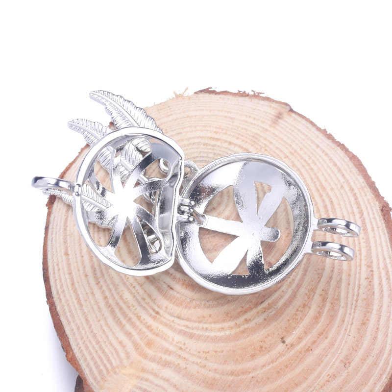 6pcs Silver Dreamcatcher dragonfly ไข่มุกกรงเครื่องประดับทำลูกปัดจี้น้ำมันหอมระเหย Diffuser Locket สำหรับ Oyster Pearl