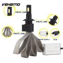 Vehemo H7 Передний фонарь светодиодный фонарь стайлинга автомобилей автомобильные аксессуары для белые светодиодные фары высокое питание освещение в сборе