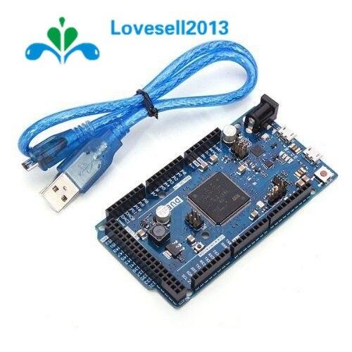 Placa conjunto 1 DEVIDO R3 SAM3X8E 32-bit ARM Cortex-M3 Módulo Da Placa de Controle Com Cabo USB Para Arduino