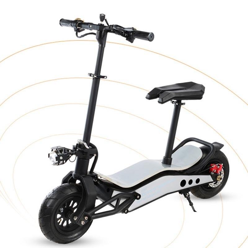 Mini mobilité hors route scooter électrique pliable 500 W