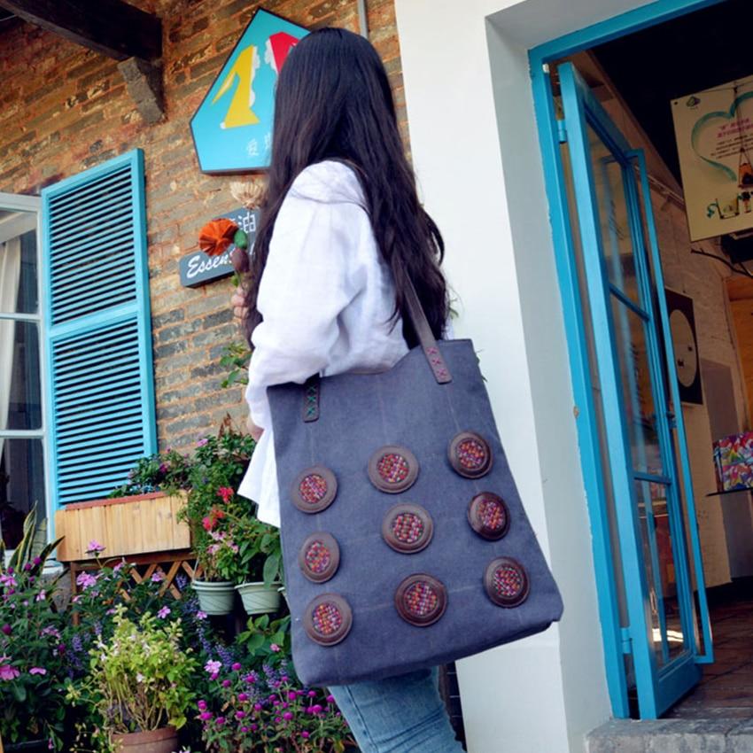 YUBIRD 캔버스 토트 지퍼 캐주얼 여성 큰 가방 큰 가방 패브릭 헝겊 숙녀 핸드 가방 핸드백은 학교를위한 그랑 드 mujer