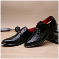Business men dress crocodile pointed shoes high quality soft bottom comfortable shoes lace up
