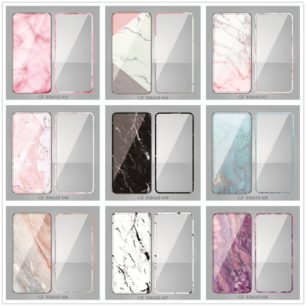 Marble Full Screen 3D Color Front Toughened Glass Film For IPhone 11 Pro MAX X XS MAX XR 6s 7 8 Plus Screen Protector Full Cover