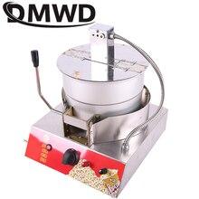 DMWD коммерческий Электрический газовый Попкорн с горячим воздухом, газовый одиночный горшок с ручным управлением, машина для изготовления попкорна
