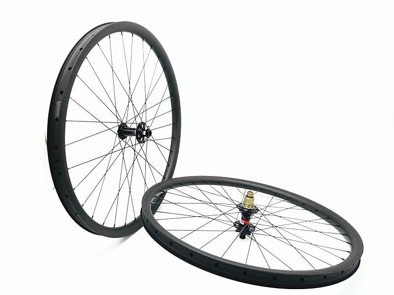 ελεύθερη αποστολή άνθρακα mtb τροχούς 29er mtb τροχοί MTB ποδήλατο πλάτος 35mm βουνό ποδήλατο χωρίς σωλήνα τροχός UD ματ τροχός QR 142 135