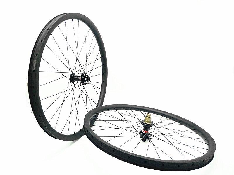 Livraison gratuite carbone vtt roues 29er vtt roues VTT vélo largeur 35mm Montagne vélo tubeless roue UD mat roue QR 142 135