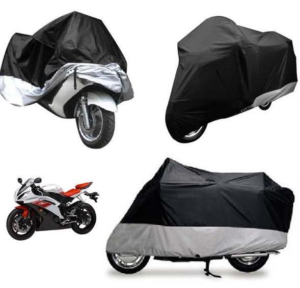 Black Waterproof Motorcycle Bike Cover Scooter Rain Outdoor Protector