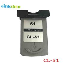 CL51 Ink Cartridge For Canon CL-51 CL51 For Canon Pixma iP2200 iP6210D iP6220D MP150 MP160 MP170 MP180 MP450 MP460 MX300 MX310 цена
