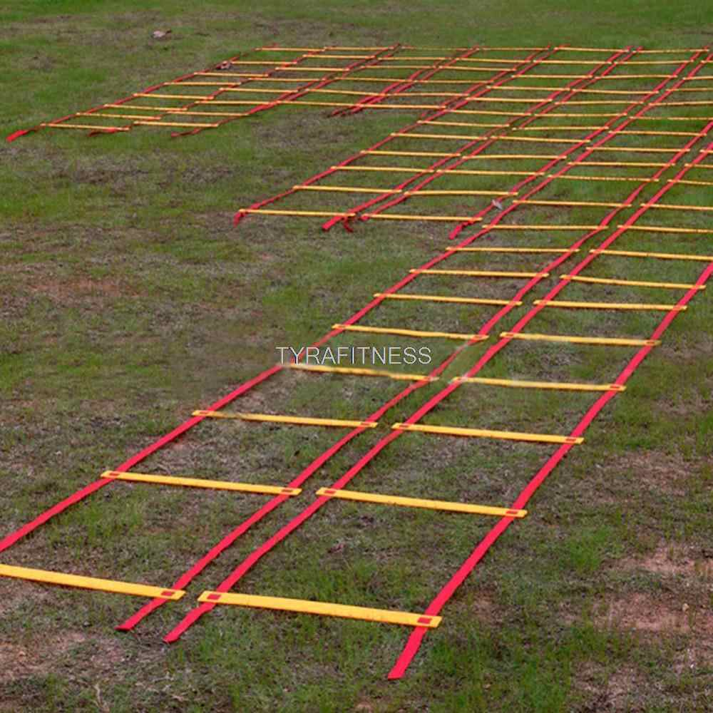 Hoge Kwaliteit Speed Agility Ladder 20.5 Meter Lang Soccer Training Agility Voetbal Training Quick Flat Running Speed Ladder