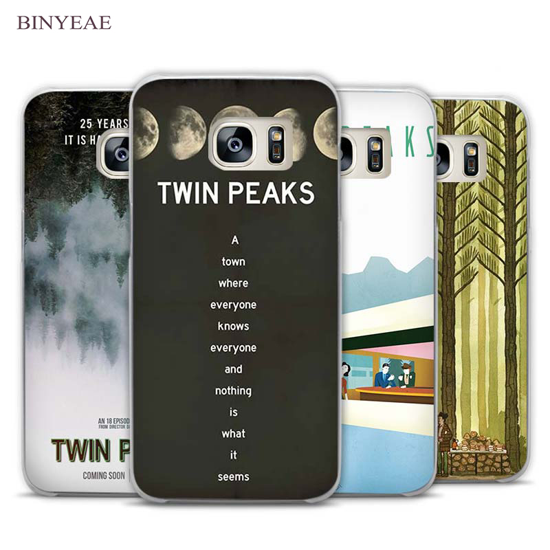 BINYEAE Welcome To Twin Peaks tv show Clear Phone Case Cover for Samsung Galaxy Note 2 3 4 5 7 S3 S4 S5 Mini S6 S7 S8 Edge Plus