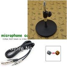 Profesional de escritorio ajustable micrófono soporte de Metal y Cable de micrófono 3,5mm y tornillo de micrófono Vintage conjunto de micrófono