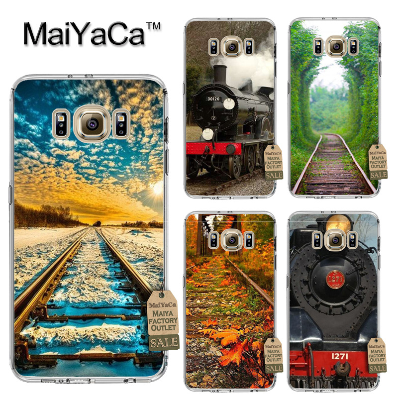 MaiYaCa Fashionable railway train Luxury Fashion Phone Case for Samsung S3 S4 S5 S6 S6edge S6plus S7 S7edge S8 S8plus
