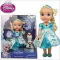 100% Original Da Disney Brinquedos Iluminação Musical de Alta Qualidade Congelados Bonecas Princesa Elsa Congelado Elsa Boneca Brinquedos Para Meninas Juguetes