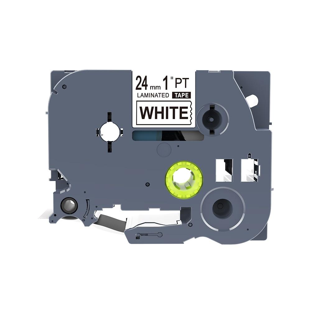 1 Piece PUTY Compatibel Label Tape 24mm Tze251 24mm Compatible For Brother P-touch Label Printers Tze Tape Tze-251 Tz251