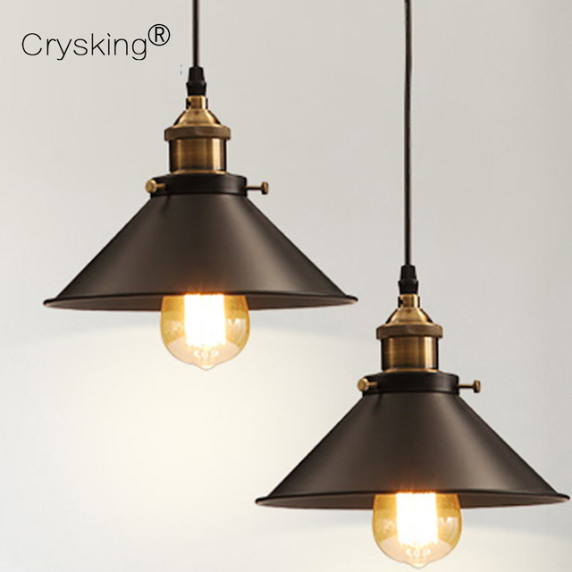 Dining Pendant Lights Loft Style Vintage Lamp Luminaria Industrial Living Room Retro Edison Bulb