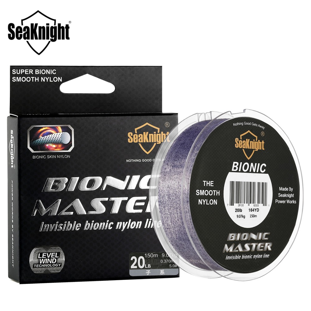 SeaKnight BIONIC MASTER 150M Spot Fishing Line Smooth Invisible Japanese fishing line 2-25LB Camouflage Saltwater Fishing Tackle