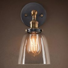 E27 Industrial Retro Glass Loft Wall Light Vintage Indoor Lighting Wall Lamp Bedside Bedroom Kitchen Restaurant Wall Sconce(China)