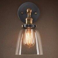 E27 Industrial Retro Glass Loft Wall Light Vintage Indoor Lighting Wall Lamp Bedside Bedroom Kitchen Restaurant Wall Sconce