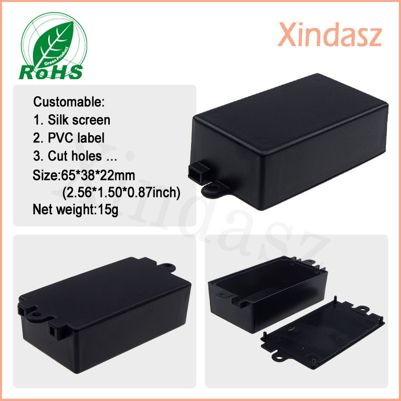 50pcs Wholesale Free Shipping 65 38 22mm plastic box enclosure electronic shenzhen