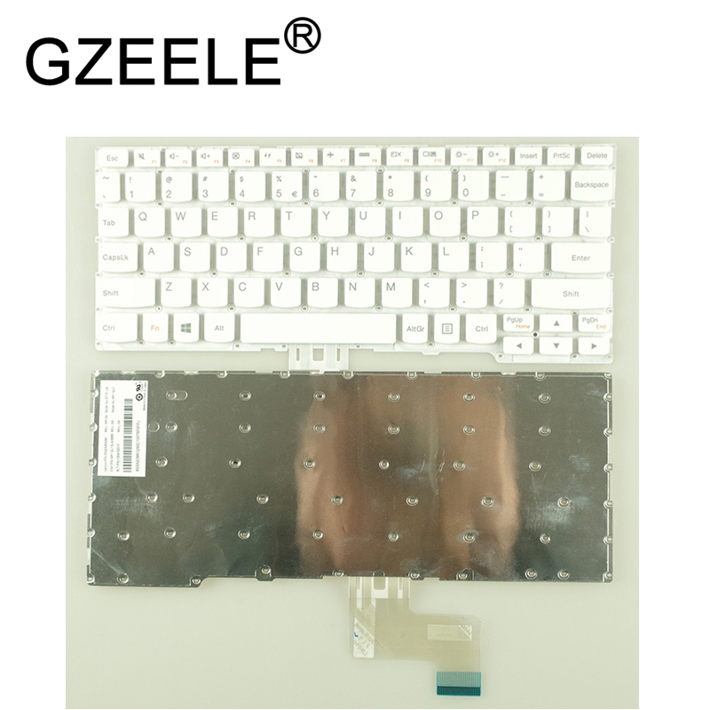 GZEELE New US English Keyboard For LENOVO Yoga 3 11 Yoga 300-11 300-11IBR 300-11IBY 700-11ISK Flex 3 11 White Color