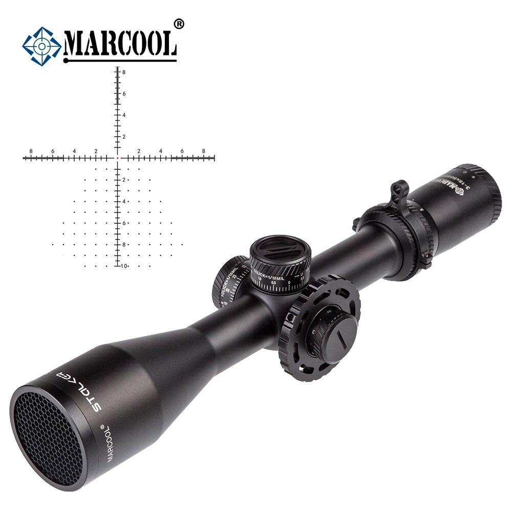Marcool óptica acosador 3-18X50 FFP óptica HD largo alcance táctico caza telescópica colimador objetivo mira óptica alcance del Rifle