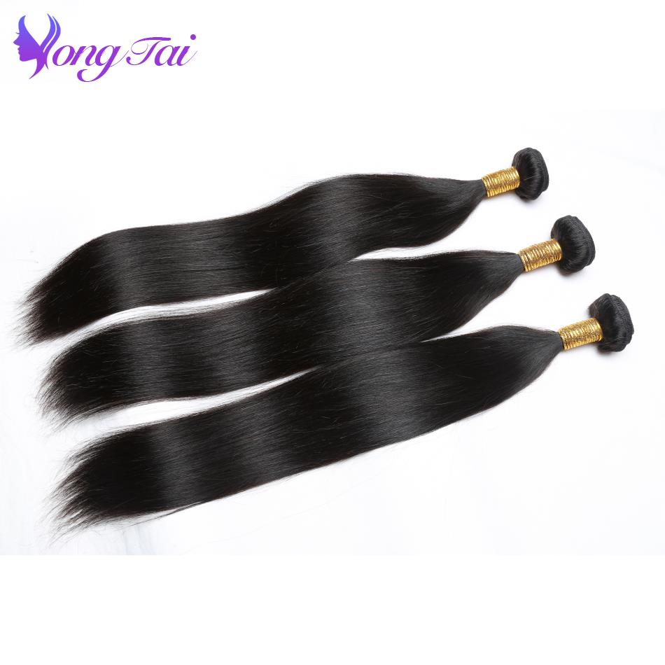 Yuyongtai Hair Store Indian Straight Hair Weave Bundles 100% Human Hair Bundles Extensions Non Remy Hair Weaving 3 Bundles