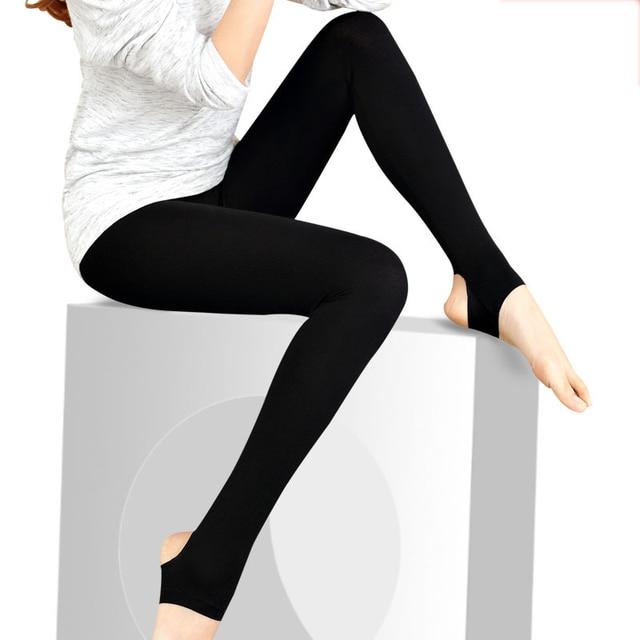 3818e5bb4285f Glossy shiny black women leggings step on the foot girls leggings ankle  length black pants high elastic casual trousers 3061-