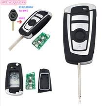 HXLIWLQLUCKY EWS system modified flip 4 Button remote key 433MHz  HU92 for BMW E38 E39 E46 M5 X3 X5
