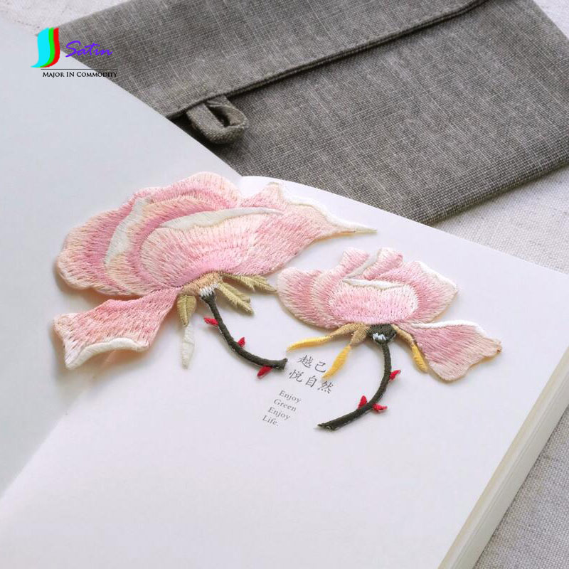 Arts,crafts & Sewing New Fashion Acacia Flower Clothes Pants Hat Fashion Cloth Diy Embroidery Flowers Popular Applique Decorative Wild Pink Size 8.3*10.8cm S182p Buy One Give One