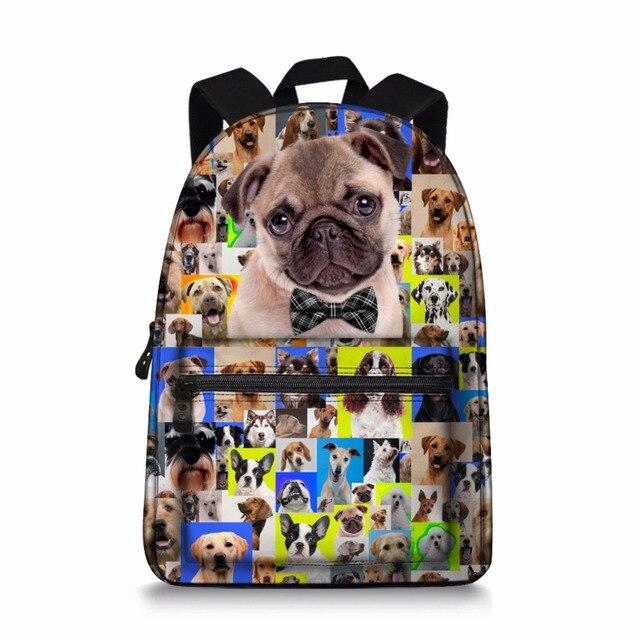 baddc57c586f5 Jeremysport Leinwand Rucksack Mädchen Buch Tasche Nette Hunde Schultasche  Rucksack