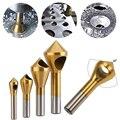 4 шт. Высокоскоростная сталь с титановым покрытием отверстие Cutte косая дыра чип удаление потайная головка инструменты для снятия фаски