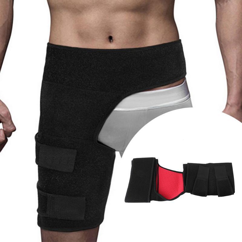 Soporte de ingle ajustable envoltura cadera articulación soporte cintura ingle sacro alivio del dolor Strain artritis Protector cadera muslo Brace