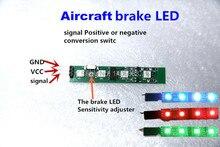 Aircraft stop lamp brake LED Flight indicator Light for Mini Quadcopter Multirotor QAV250 CC3D FPV Red